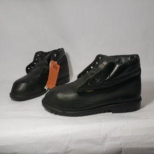 Vibram Black Leather Steel Toe Work Boots